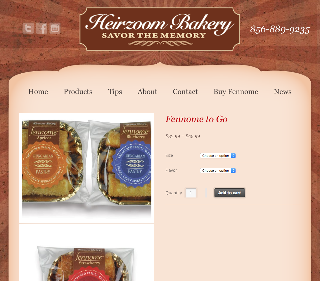 Project Spotlight: Heirzoom Bakery Website